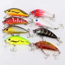 8pcs 5cm 3.6g Fishing Lures Bass Crank Bait Lure Tackle with hooks