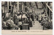 AUTOMOBILES Voitures PUTEAUX CPA 92 Usine DE DION BOUTON atelier tours verticaux