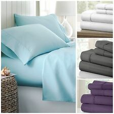 Hotel Quality Egyptian Comfort Bed Sheet Set - 4 Luxury Patterns to Choose From!
