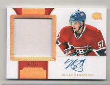 BLAKE GEOFFRION 2011-12 DOMINION # 154 AUTOGRAPH ROOKIE HORIZONTAL PATCH 57 MADE