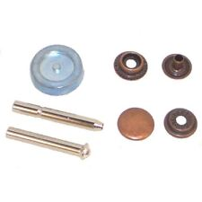 Press Stud Poppers Kit Bronze Pack of 12 Studs and Tool