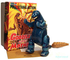 Godzilla Tin Toy Windup Billiken Japan with Mothra