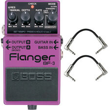 Boss BF-3 Flanger Guitar Effects Pedal Stompbox Footswitch + Patch Cables