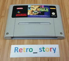 Super Nintendo SNES The Incredible Hulk PAL