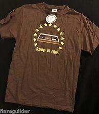 NEW Nintendo Retro Adult Mens MEDIUM T-shirt Keep it Real Old School Controller