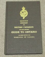 Emigration:The British Farmer's and Farm Labourer's Guide to Ontario,