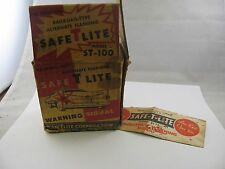 Vintage Collectible BOX Car Auto Safe T Lite Safe-T-Lite Warning Signal