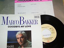 """7"""" - Marco Bakker / Goodbye My Love & Das Mädchen von Piräus - PROMO 1986"""