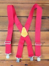 CLC Custom Leather Craft Red Nylon Webbing Sturdy Work Mens Suspenders One Size