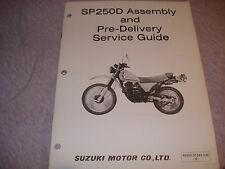 Suzuki 1982 SP250D Assembly And Pre-Delivery Service Guide