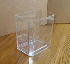 Vintage MCM  Clear LUCITE Acrylic Trash CAN Waste BASKET