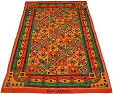 Handmade Kantha Bedsheet Wall Hanging Hippie Tapestry Table Cover Indian Throw