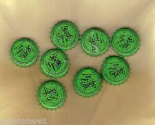 #D539. EIGHT   USED SPRITE   GREEN  BOTTLE CAPS FROM SRI LANKA