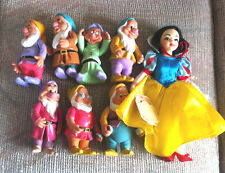 DISNEY APPLAUSE SNOW WHITE DOLL AND SEVEN POSEABLE PVC DWARVES