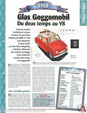 Glas Goggomobil T 250 Mini 2 Cyl. 1955 Germany Car Auto Retro FICHE FRANCE