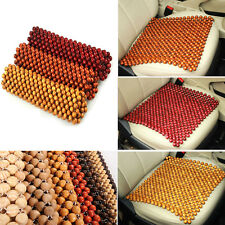 1pc Square Wooden Beaded Massage Seat Cushion Auto Car Home Chair Office Cover