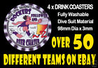 4 x DOCKERS FREMANTLE OR OTHER FOOTBALL AUSSIE RULES DRINK COASTERS