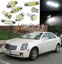 White SMD Car Lights Interior LED Package kit for Cadillac CTS 2003-2007
