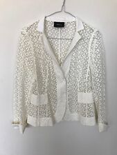 Akris Broderie Embroidered Shirt / Jacket - NWOT - Cream - Size FR 36