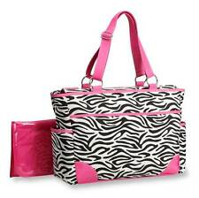 Out 'n About Zebra Print Girls 7 Storage Tote Pockets Diaper Bag by Carter's