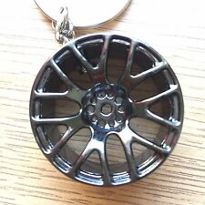 Alloy Wheel Rim Keychain Keyring - METAL - Spinning Brake Disc and Calipers