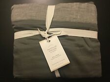 Pottery Barn TENCEL LYOCELL Duvet Cover King Cal King FLAGSTONE GRAY NWT