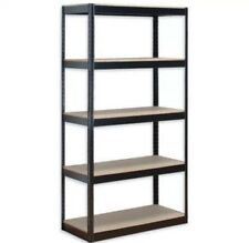 5 TIER HEAVY BOLTLESS METAL SHELVING SHELVES STORAGE SHELF GARAGE HOME OFFICE UK