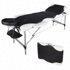 "84""L Portable Aluminum 3 Fold Massage Table Facial SPA Bed Tattoo w/ Carry Case"