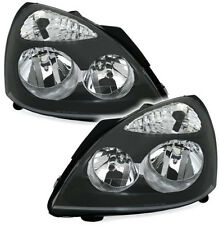 Black clear finish H7 H1 headlight set for RENAULT CLIO 2 B 01-05