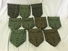 US ARMY USMC MILITARY E-TOOL ENTRENCHING FOLDING SHOVEL CARRIER COVER LOT of 10