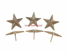 Lot 6 Cast Iron 2.5 inch Texas Star Nails Tacks Rustic Finish Western 1 in Nail