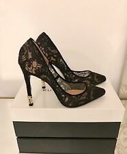 Kurt geiger london Canonbury dentelle noir chaussures à talon haut taille 6 39 rrp £ 220