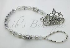 Silver Crown-Romany-bling Dummy Clip