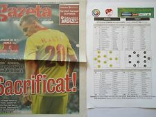 Gazeta & Team Sheet LS 10.9.2013 Romania Rumänien - Turkey Türkei