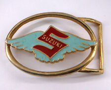 Suzuki Motorcycle Company Logo Blue Wings Red S Vintage Belt Buckle zz-11