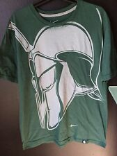 Vintage Size XL Nike Standard Fit Michigan State Spartans Football Green T Shirt