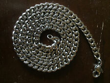 """21.5"""" Pure Solid 995 PLATINUM Necklace 6mm CUBAN CHAIN Heavy 99.5g"""