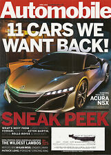 Automobile Mag Apr 2012 - Acura NSX - Miura - Countach - Diable - Aventador