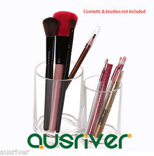 Clear Acrylic Round Makeup Brushes Holder Cosmetic Storage Organizer Brand New