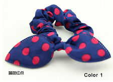 Bunny Ears Shape Dot Pattern Hair Rope Hair Accessories Bow Rubber Band Color 1