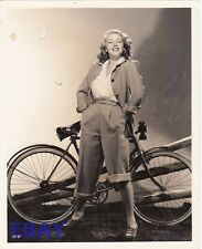 Lana Turner w/bike VINTAGE Photo