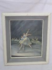 Vintage Ballet De Russe Print by R.A. Loederer in Frame