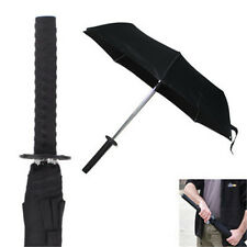 Japanese Samurai Sword Tanto Handle Sun Rain Compact Folding Umbrella