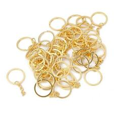 2 x GOLD TONE KEY RING BLANKS KEY CHAIN FINDINGS