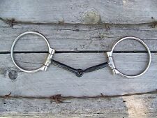 Bit - SS Dee Ring Snaffle with Sweet Iron Motuh