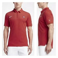NIKE Roger Federer OLYMPIA 16 Rio POLO M Tennis Nadal S L XL SWISS MAGLIA Open