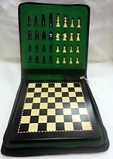 CHESS GIFT - TRAVEL WOODEN CHESS SET & BOARD - MAGNETIC - EBONIZED FINISH