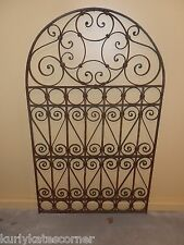 "60"" ORNATE OLD WORLD ARCHED TOP  WROUGHT IRON GATE"