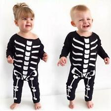 Baby Girls Boys Halloween Costume Skeleton Romper Jumpsuit Bodysuit 80&