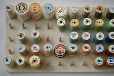 Cotton sewing reel storage thread spool holder wall organiser tidy horizontal